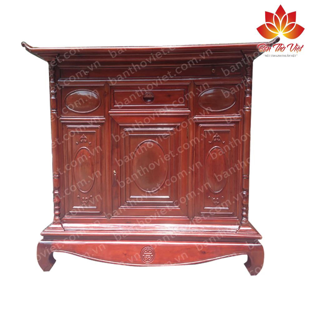 Kiểu dáng và màu sắc sang trọng của tủ thờ chung cư do Bàn thờ Việt cung cấp