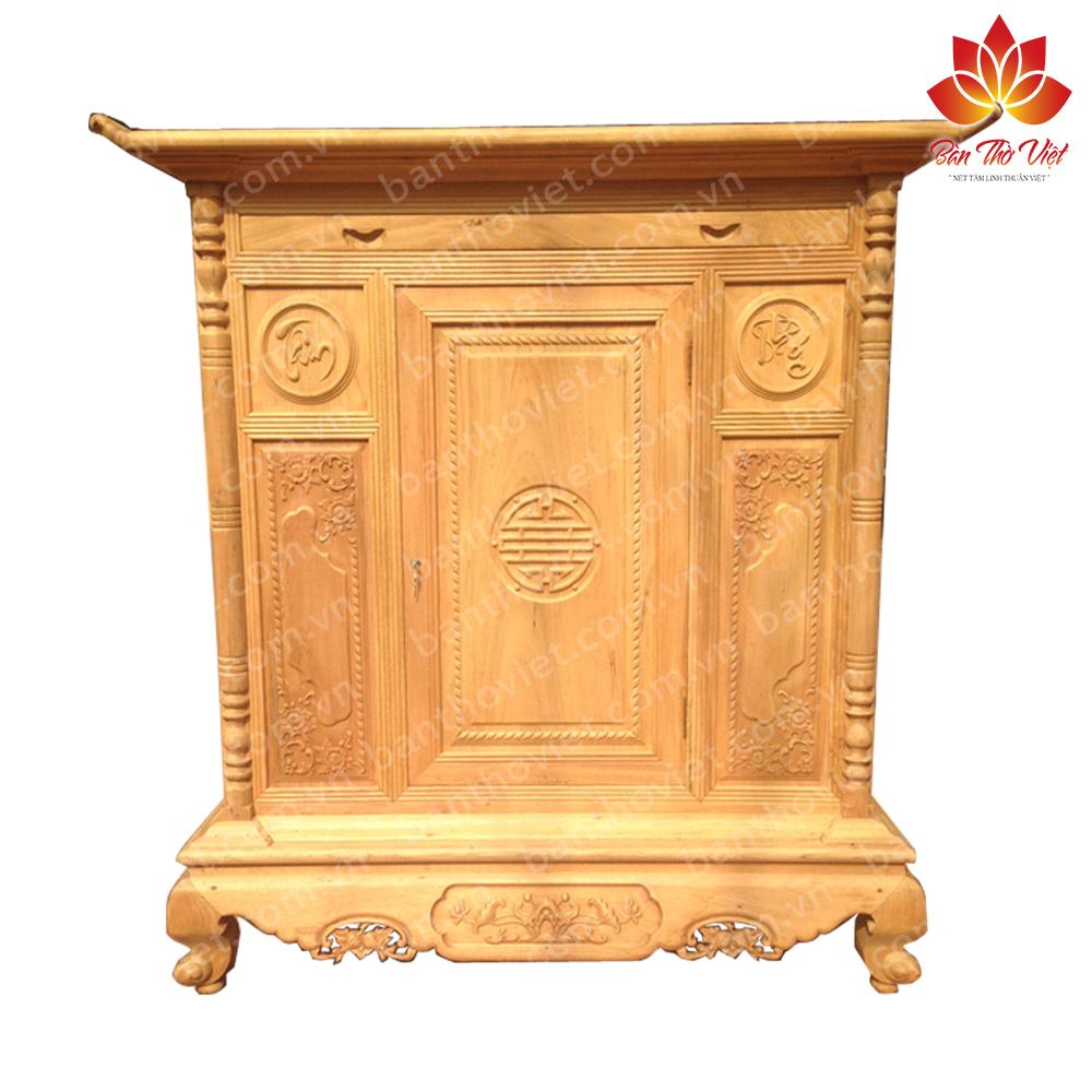 Tủ thờ gỗ dổi Đẹp - Chất Lượng - Giá Rẻ| Bàn Thờ Việt