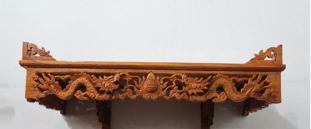 Một số mẫu bàn thờ treo tường phong thủy đẹp