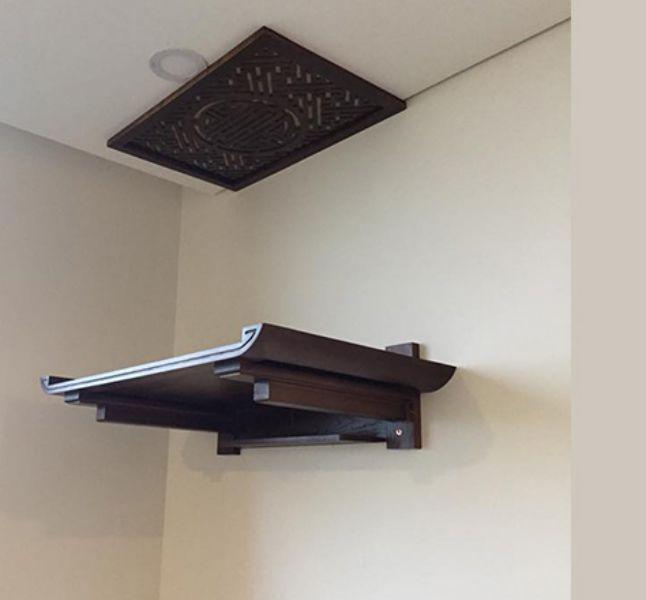 Bàn thờ treo tường dài bao nhiêu đúng chuẩn với nhiều không gian?